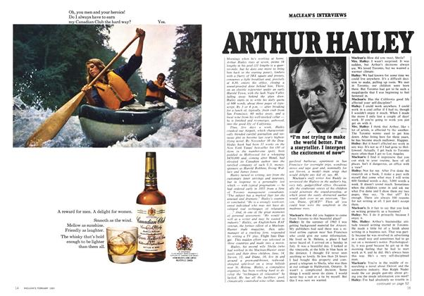 Article Preview: ARTHUR HAILEY, February 1969 | Maclean's
