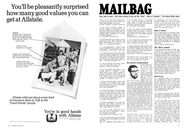 Article Preview: MAILBAG, March 1969 | Maclean's