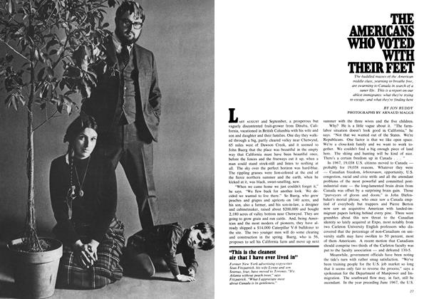 Article Preview: THE AMERICANS WHO VOTED WITH THEIR FEET, March 1969 | Maclean's
