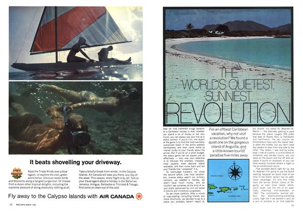 Article Preview: THE WORLD'S QUIETEST SUNNIEST REVOLUTION, March 1969 | Maclean's