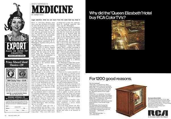 Article Preview: WHAT'S HAPPENING IN MEDICINE, March 1969 | Maclean's