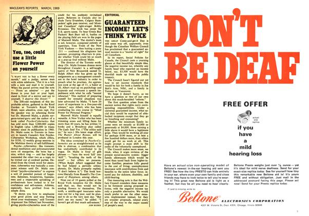 Article Preview: GUARANTEED INCOME? LET'S THINK TWICE, March 1969 | Maclean's