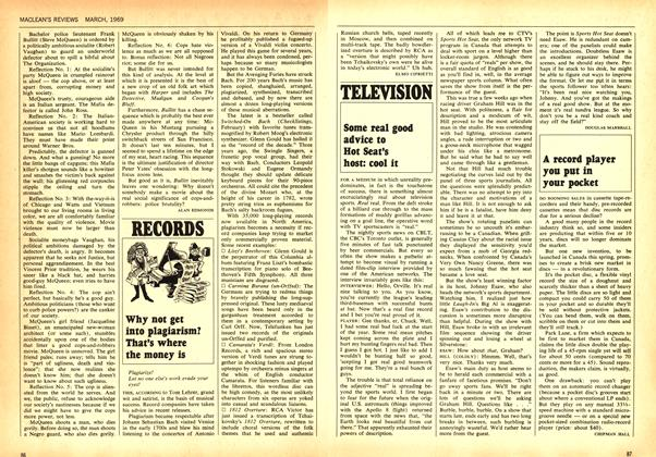 Article Preview: Some real good advice to Hot Seat's host: cool it, March 1969 | Maclean's