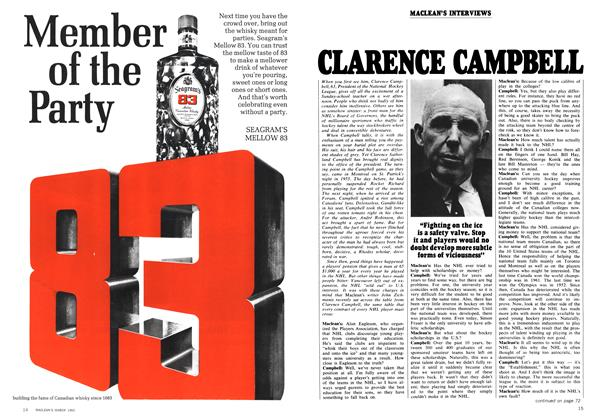 Article Preview: CLARENCE CAMPBELL, March 1969 | Maclean's