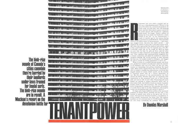 Article Preview: TENANT POWER, April 1969 | Maclean's