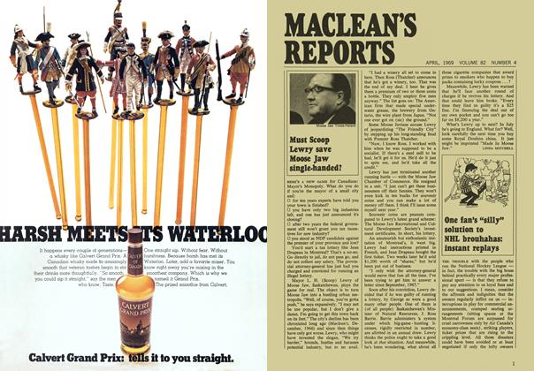 "Article Preview: One fan's ""silly"" solution to NHL brouhahas: instant replays, April 1969 