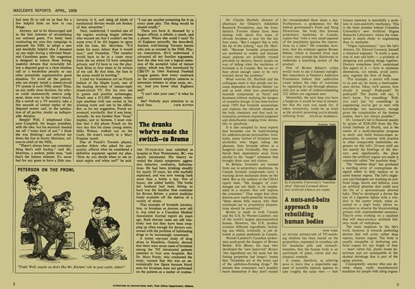 Article Preview: The drunks who've made the switch—to Bromo, April 1969 | Maclean's