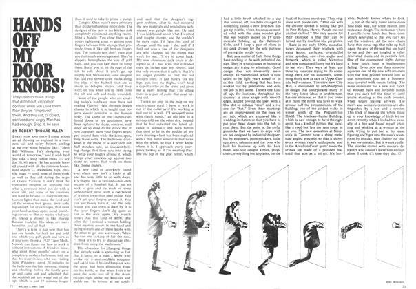 Article Preview: HANDS OFF MY DOOR KNOBS!, April 1969 | Maclean's
