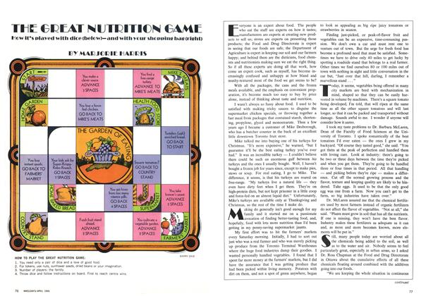Article Preview: THE GREAT NUTRITION GAME, April 1969 | Maclean's