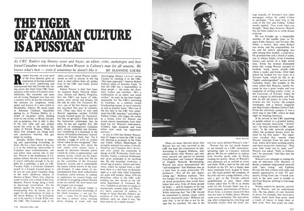Article Preview: THE TIGER OF CANADIAN CULTURE IS A PUSSYCAT, April 1969 | Maclean's