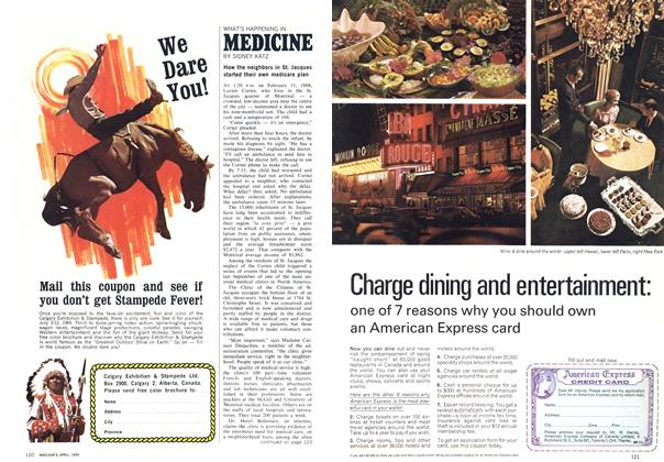 Article Preview: WHAT'S HAPPENING IN MEDICINE, April 1969 | Maclean's