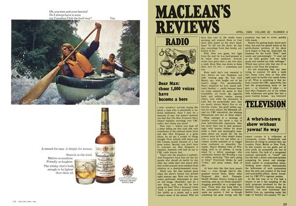 Article Preview: A who's-in-town show without yawns? No way, April 1969 | Maclean's