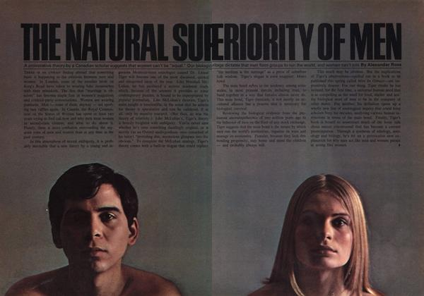 Article Preview: THE NATURAL SUPERIORITY OF MEN, May 1969 | Maclean's