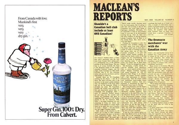 Article Preview: Shouldn't a Canadian ball club include at least ONE Canadian?, May 1969 | Maclean's