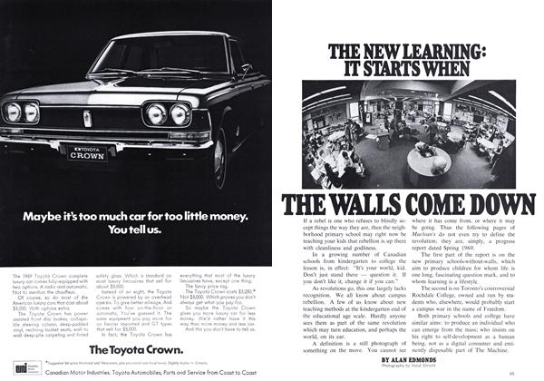 Article Preview: THE WALLS COME DOWN, May 1969 | Maclean's