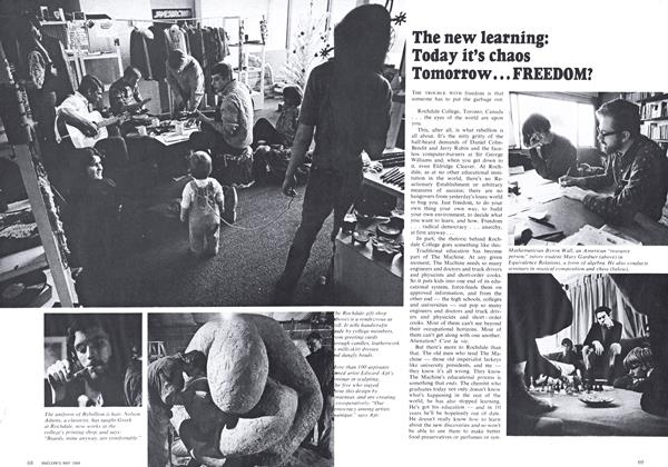 Article Preview: Today it's chaos Tomorrow ... FREEDOM?, May 1969 | Maclean's