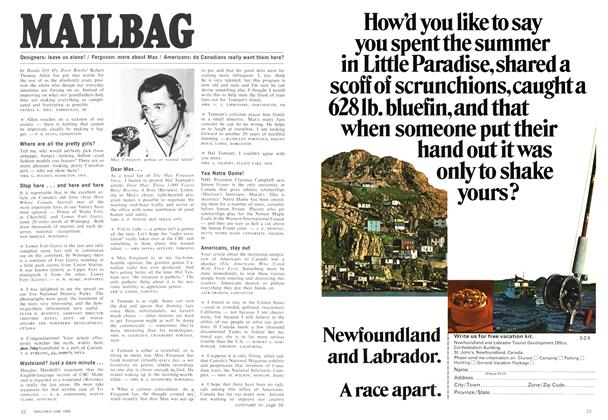 Article Preview: MAILBAG, June 1969 | Maclean's