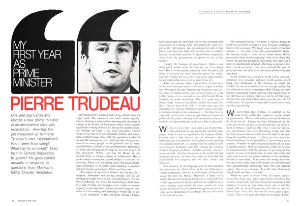 Article Preview: MY FIRST YEAR AS PRIME MINISTER, June 1969 | Maclean's