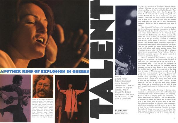 Article Preview: ANOTHER KIND OF EXPLOSION IN QUEBEC TALENT, June 1969 | Maclean's