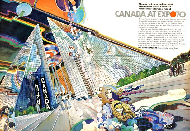 Article Preview: The many-mirrored multiscreened green-gabled aurora-borealised McLuhanistic electronic face of CANADA AT EXPO 70, July 1969 | Maclean's