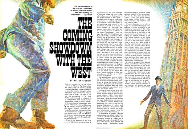Article Preview: THE COMING SHOWDOWN WITH THE WEST, July 1969 | Maclean's