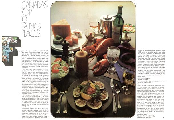 Article Preview: CANADA'S TOP 10 EATING PLACES, July 1969 | Maclean's