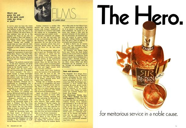 Article Preview: FILMS, July 1969 | Maclean's
