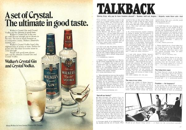 Article Preview: TALKBACK, August 1969 | Maclean's