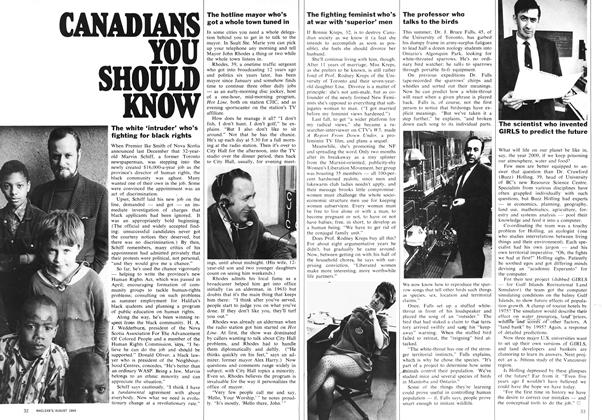 Article Preview: CANADIANS YOU SHOULD KNOW, August 1969 | Maclean's