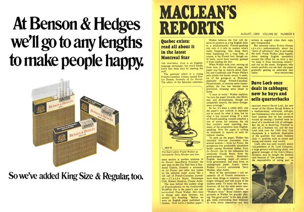 Article Preview: Dave Loeb once dealt in cabbages; now he buys and sells quarterbacks, August 1969 | Maclean's