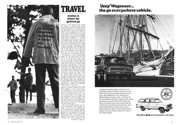 Article Preview: TRAVEL, August 1969 | Maclean's