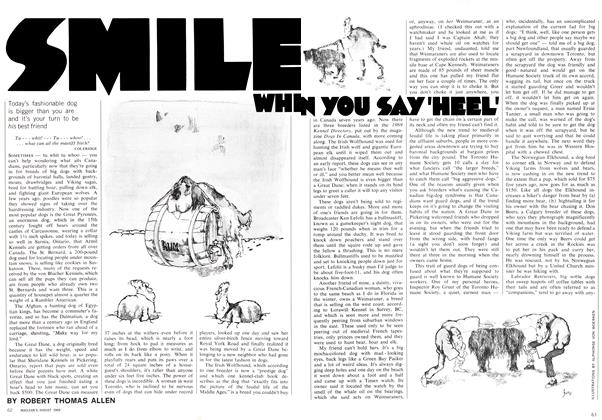 Article Preview: SMILE WHEN YOU SAY'HEEL', August 1969 | Maclean's