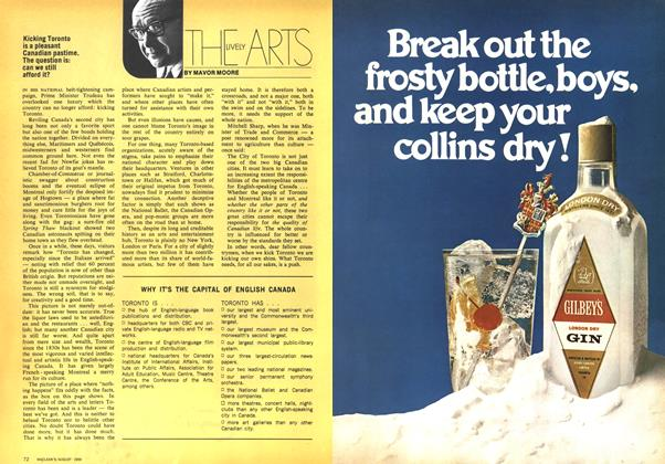 Article Preview: THE LIVELY ARTS, August 1969 | Maclean's