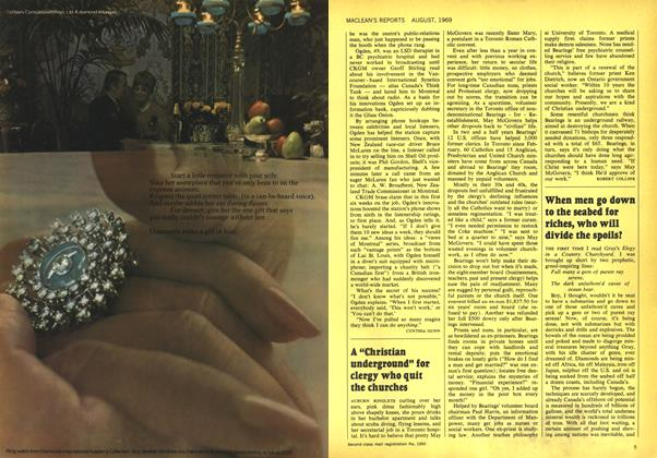 Article Preview: When men go down to the seabed for riches, who will divide the spoils?, August 1969 | Maclean's