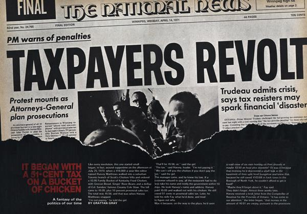Article Preview: IT BEGAN WITH A 51-CENT TAX ON A BUCKET OF CHICKEN, September 1969 | Maclean's