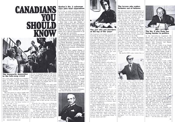 Article Preview: CANADIANS YOU SHOULD KNOW, September 1969 | Maclean's