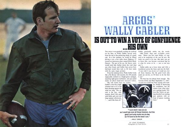 Article Preview: ARGOS' WALLY GABLER IS OUT TO WIN A VOTE OF CONFIDENCE ...HIS OWN, September 1969 | Maclean's