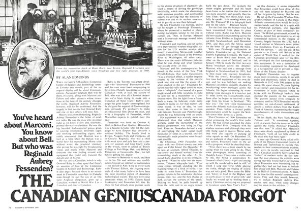 Article Preview: THE CANADIAN GENIUS CANADA FORGOT, September 1969 | Maclean's