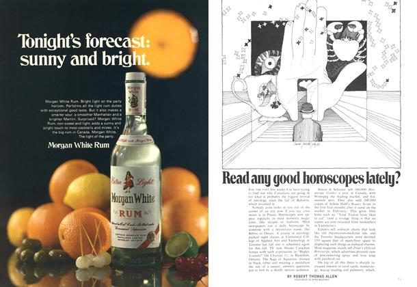 Article Preview: Read any good horoscopes lately?, October 1969   Maclean's