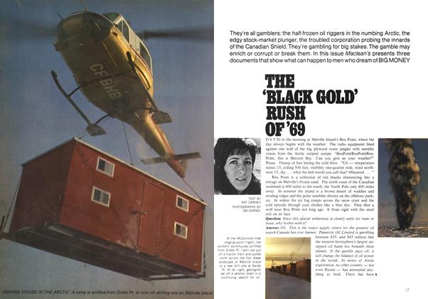 Article Preview: THE 'BLACK GOLD' RUSH OF `69, November 1969 | Maclean's