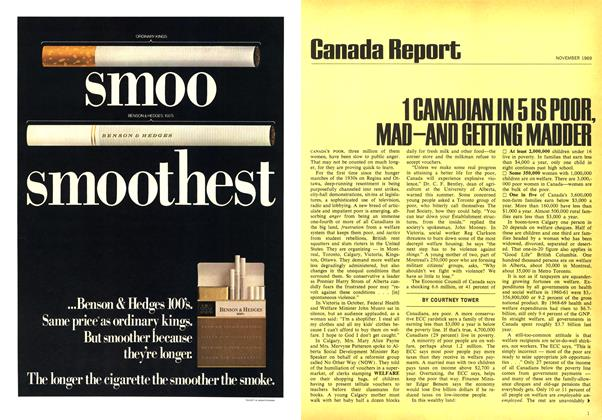 Article Preview: 1 CANADIAN IN 5 IS POOR, MAD—AND GETTING MADDER, November 1969 | Maclean's