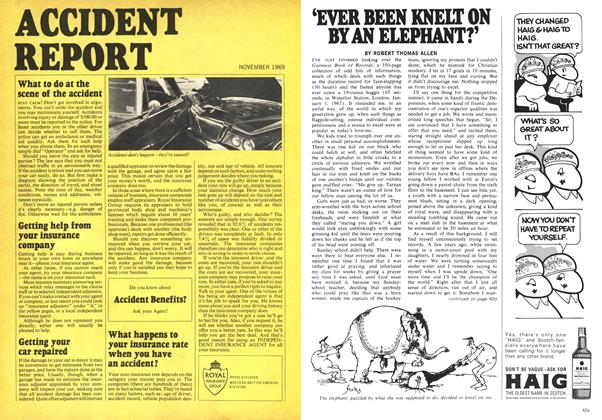 Article Preview: 'EVER BEEN KNELT ON BY AN ELEPHANT?', November 1969 | Maclean's