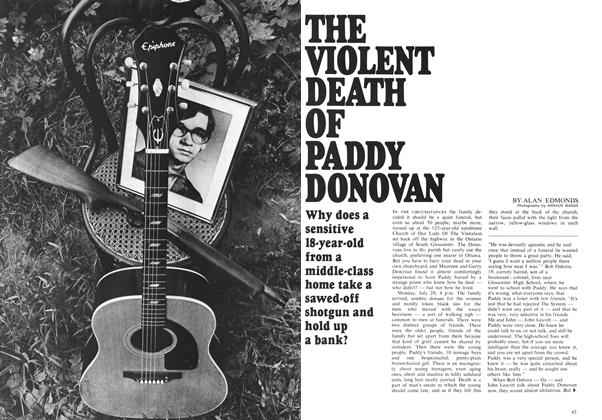 Article Preview: THE VIOLENT DEATH OF PADDY DONOVAN, November 1969 | Maclean's