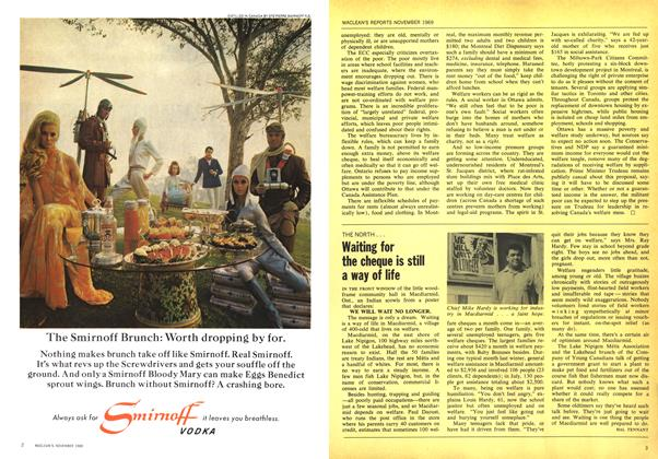Article Preview: Waiting for the cheque is still a way of life, November 1969 | Maclean's