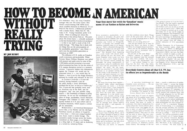 Article Preview: HOW TO BECOME WITHOUT REALLY TRYING AN AMERICAN, November 1969 | Maclean's