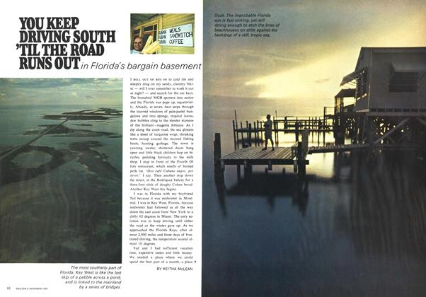 Article Preview: YOU KEEP DRIVING SOUTH 'TIL THE ROAD RUNS OUT, November 1969 | Maclean's