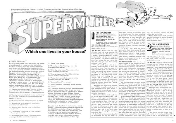 Article Preview: SUPERMOTHER Which one lives in your house?, November 1969 | Maclean's