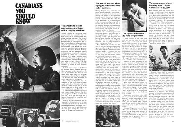 Article Preview: CANADIANS YOU SHOULD KNOW, November 1969 | Maclean's