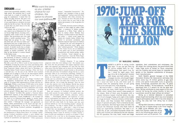 Article Preview: 1970:JUMP-OFF YEAR FOR THE SKIING MILLION, December 1969 | Maclean's