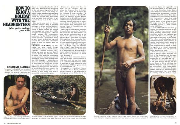 Article Preview: HOW TO ENJOY A HOLIDAY WITH THE HEADHUNTERS, December 1969 | Maclean's